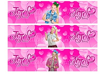 Jojo Siwa Edible Cake Strips Cake Topper Decoration Set Of 3 Edible