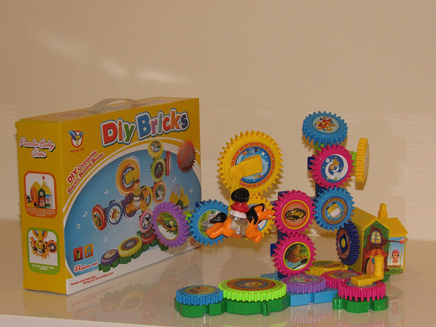 Amazon.com: Building Blocks, Gears Toy for Kids and Toddlers ...