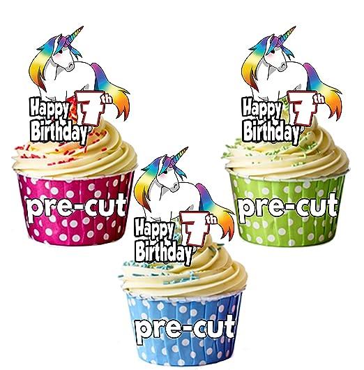 PRECUT: unicornio mágico - 7º cumpleaños - adornos ...