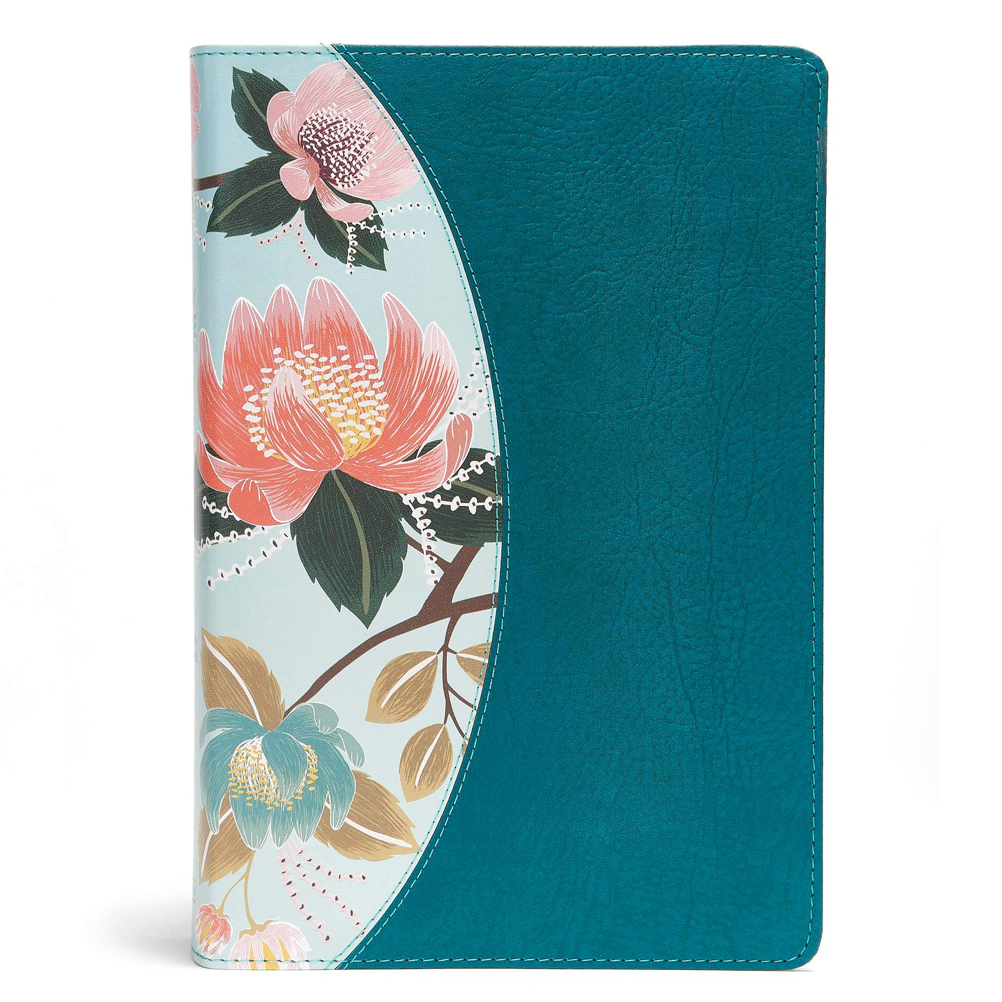 The CSB Study Bible For Women, Teal Flowers LeatherTouch, Indexed by B & H Publishing Group