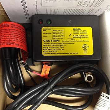 Amazon.com: Kohler gm28341 Cargador, Batería 12 V-6 A ...