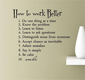 Amazoncom How To Work Better Do One Thing At A Time Know The