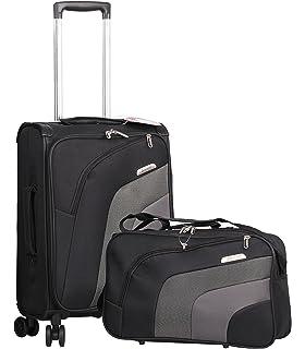 """Aerolite 21"""" Carry On Ultra Lightweight Spinner Suitcase & Flight Bag Under Seat Shoulder Bag"""
