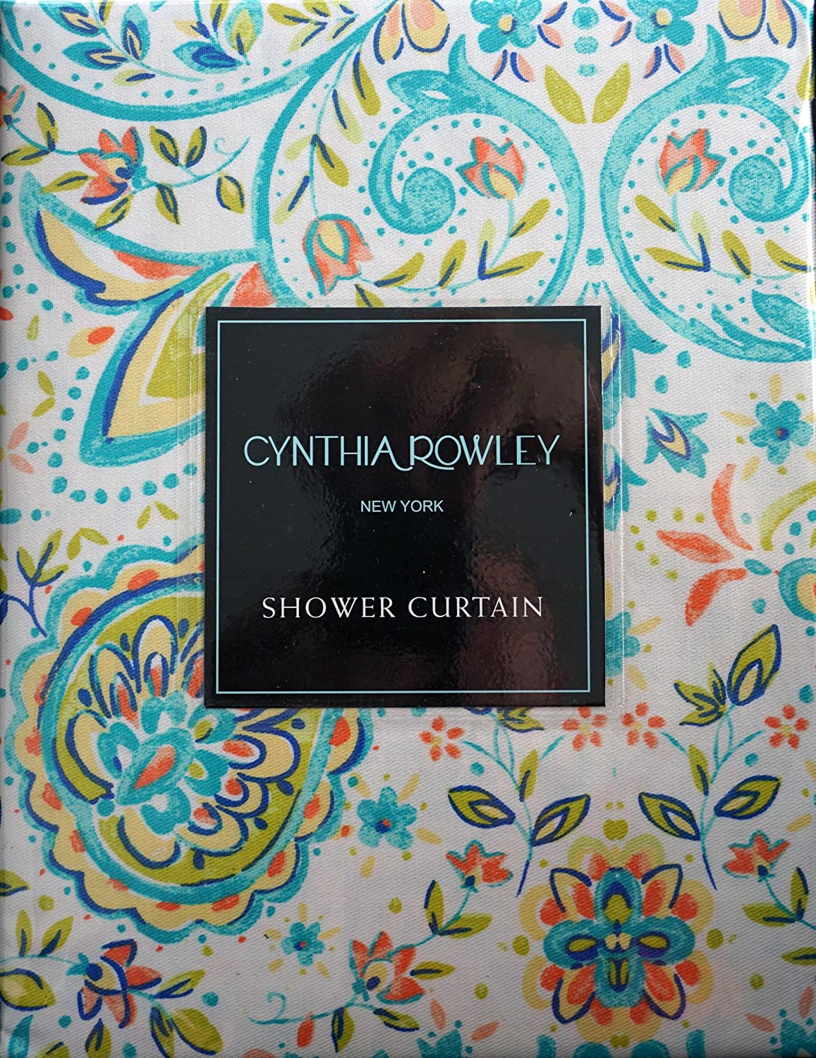Cynthia rowley medallion shower curtain - Amazon Com Cynthia Rowley Fabric Shower Curtain Orange Turquoise Yellow Medallions Quincy Home Kitchen