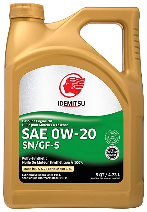 0w 20 Vs 5w 20 >> Idemitsu Full Synthetic 0w 20 Engine Oil Sn Gf 5 5 Quart