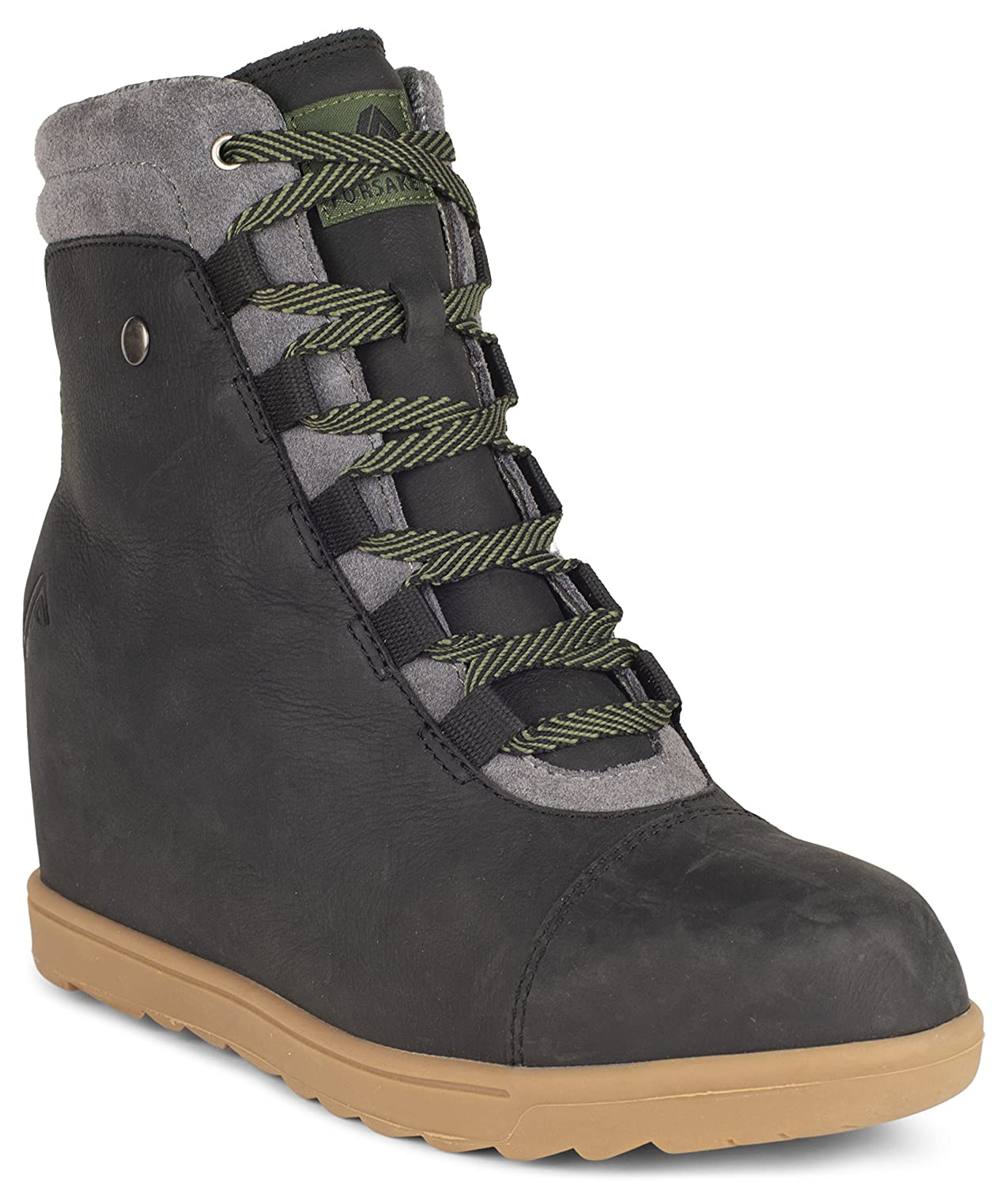 Forsake Alma – Women's Leather Wedge Water-Resistant Boot B075Y9VQ9V 8.5 M US|Black