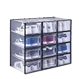 East Loft Clear Shoe Box Storage Containers for