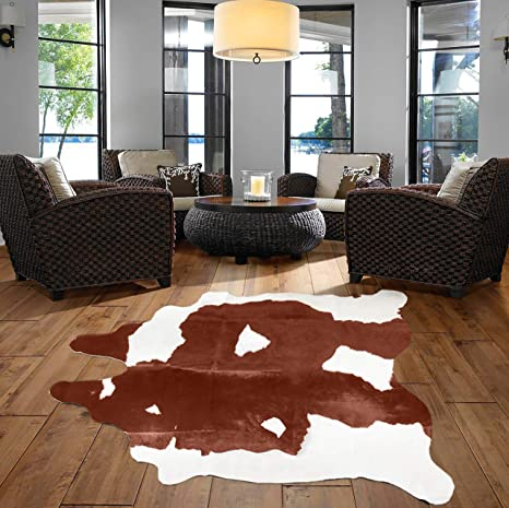 A Star Tm Western Brown White Cowhide Rug Best Cow Hides Area Rug 5 X 7 Kitchen Dining