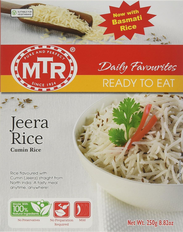 MTR Jeera Rice Ready To Eat, Mild Spice, 250g, White