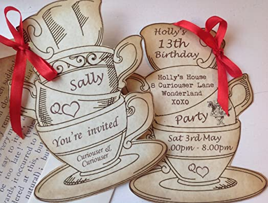 Personalised Party in Style Vintage Shabby Chic Tea Cup ...