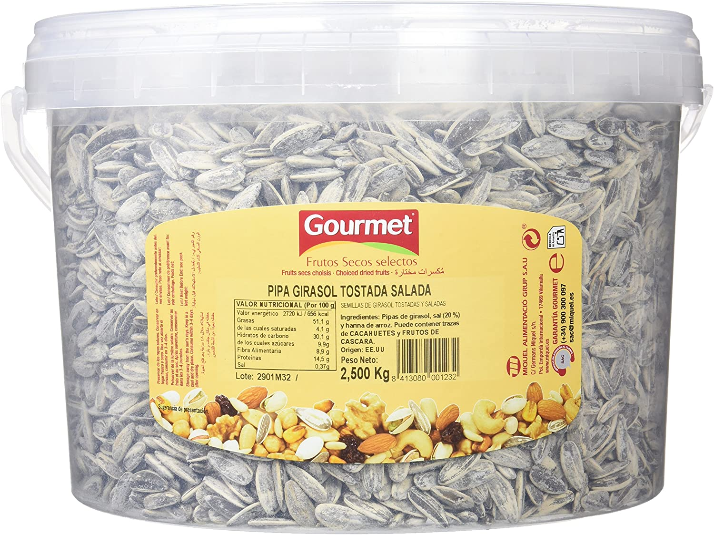 Gourmet Semillas de Girasol Tostadas y Saladas - 2.5 kg