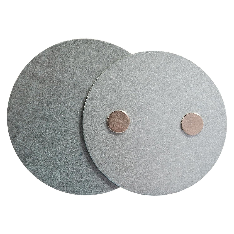 ECENCE Soporte magnético para Detector de Humo - 3 Unidades Soporte magnético Adhesivo para detectores de Humo Ø 70mm - Base sin taladros para ...