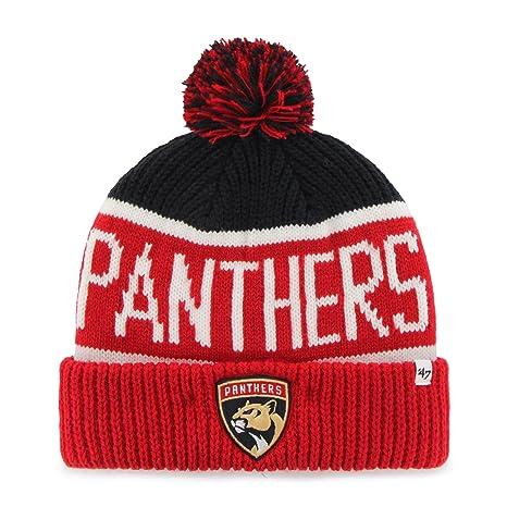 c7949e82b Amazon.com : '47 NHL Florida Panthers Calgary Cuff Knit Hat, One ...
