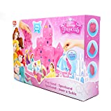 Disney Princess Play Sand Set for Kids - 1lb (450g) Pink Play Sand Box with Accesoires: 3 Moulds + Disney Princesses - Pink Sculpting Magic Super Sand Kit