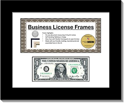 Amazon.com: CreativePF [CL8.5x11bk-w] Black Double License Business ...