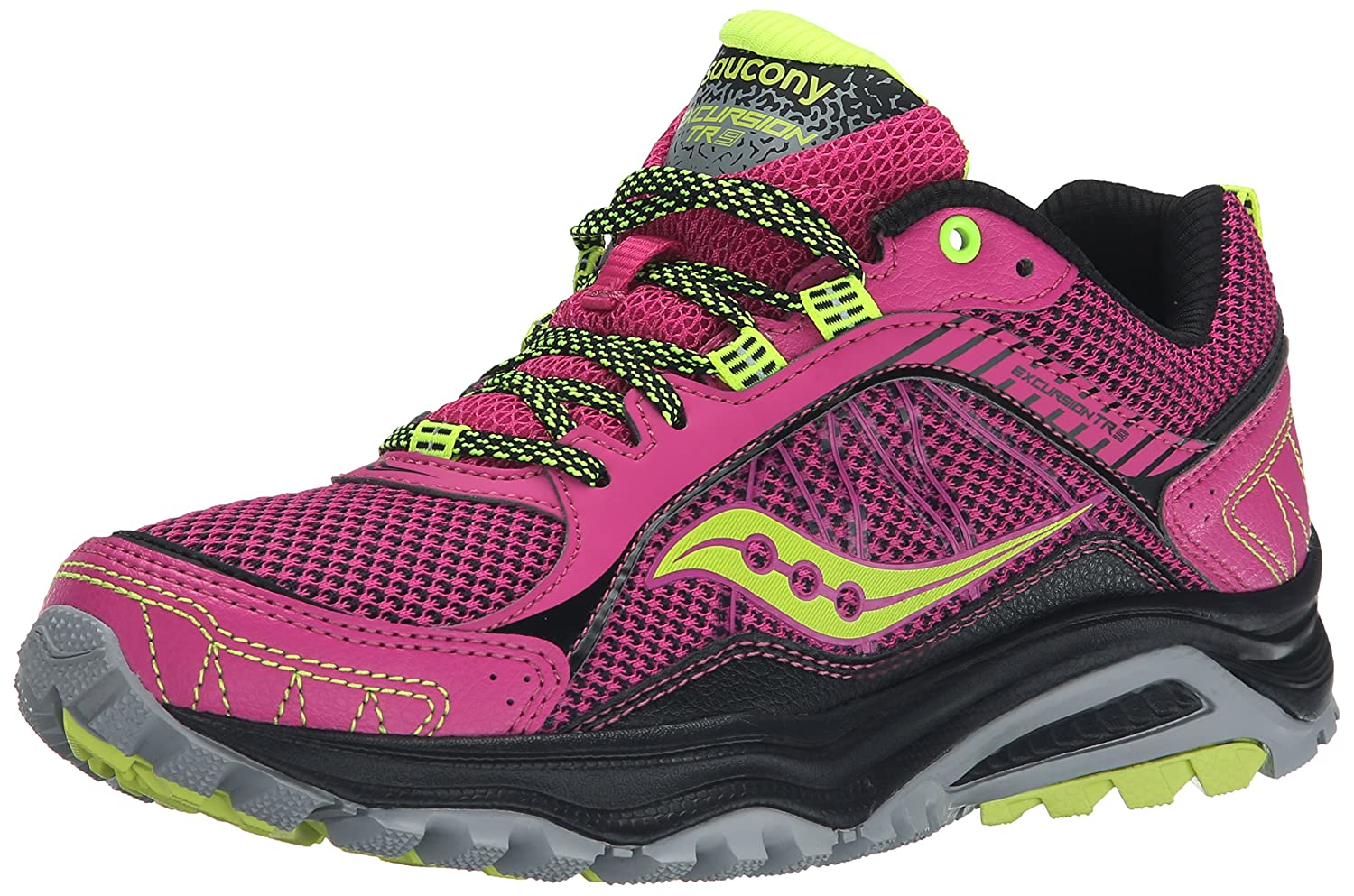 Saucony Women's Grid Excursion TR9 Trail Running Shoe B00Z7959IW 7.5 B(M) US|Pink/Grey/Citron