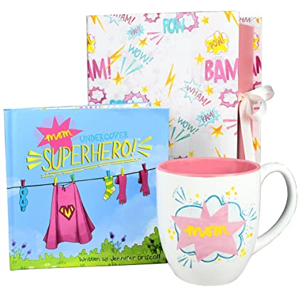 Mom Gift Set -u0026quot;Undercover Superherou0026quot; Book and Coffee Mug in Keepsake Box  sc 1 st  Amazon.com & Amazon.com | Mom Gift Set -