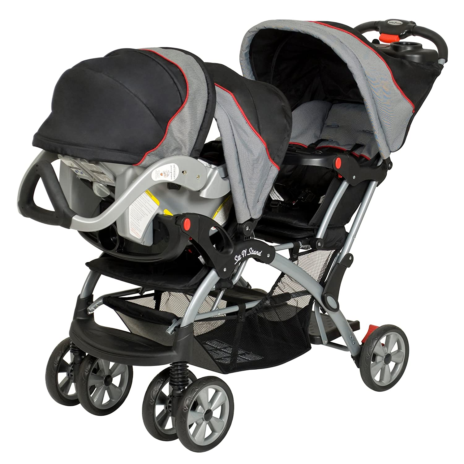 Amazon Baby Trend Double Sit N Stand Stroller Millennium Tandem Strollers