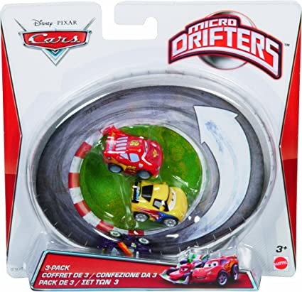 Cars Micro Drifters Max Schnell, Lightning McQueen and Jeff Gorvette Vehicle, by Mattel: Amazon.es: Juguetes y juegos