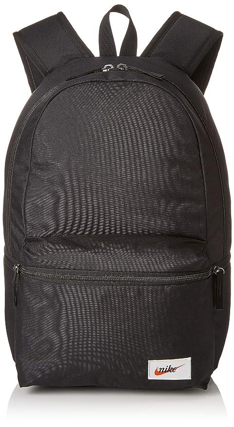 purchase cheap bebac cb751 Nike Unisex NK Heritage Bkpk-Label Rucksack, Black (Black Orange Blaze)