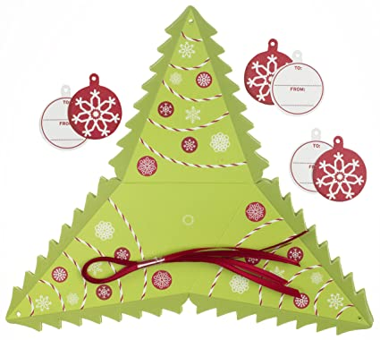 Martha Stewart Crafts Peppermint Winter Tree Treat Box