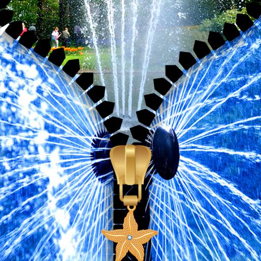 Fountain Zipper Lock Screen