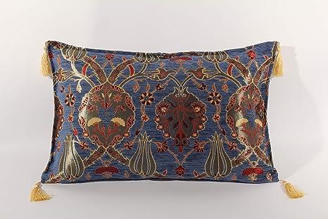 MORGENLAND Möbel & Accessoires Kissenbezug orientalisch, Orientkissen, Türkische Kissen, Kissenhülle, Sofakissen, Dekokissen,