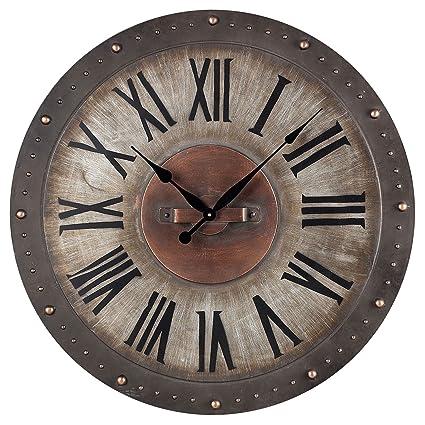 Amazon Com Sterling 128 1005 Metal Roman Numeral Outdoor Wall Clock