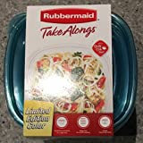 Rubbermaid TakeAlongs Limited Edition Color 5.2-Cup Deep Square Food Storage Containers, 8-Pack, 8 Containers + 8 TEAL Lids