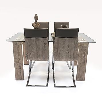 Homely - Conjunto de Comedor Kala. 4 sillas Kala y Mesa de ...