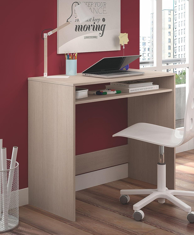 chic Mesa de ordenador o escritorio con estante inferior en color ...