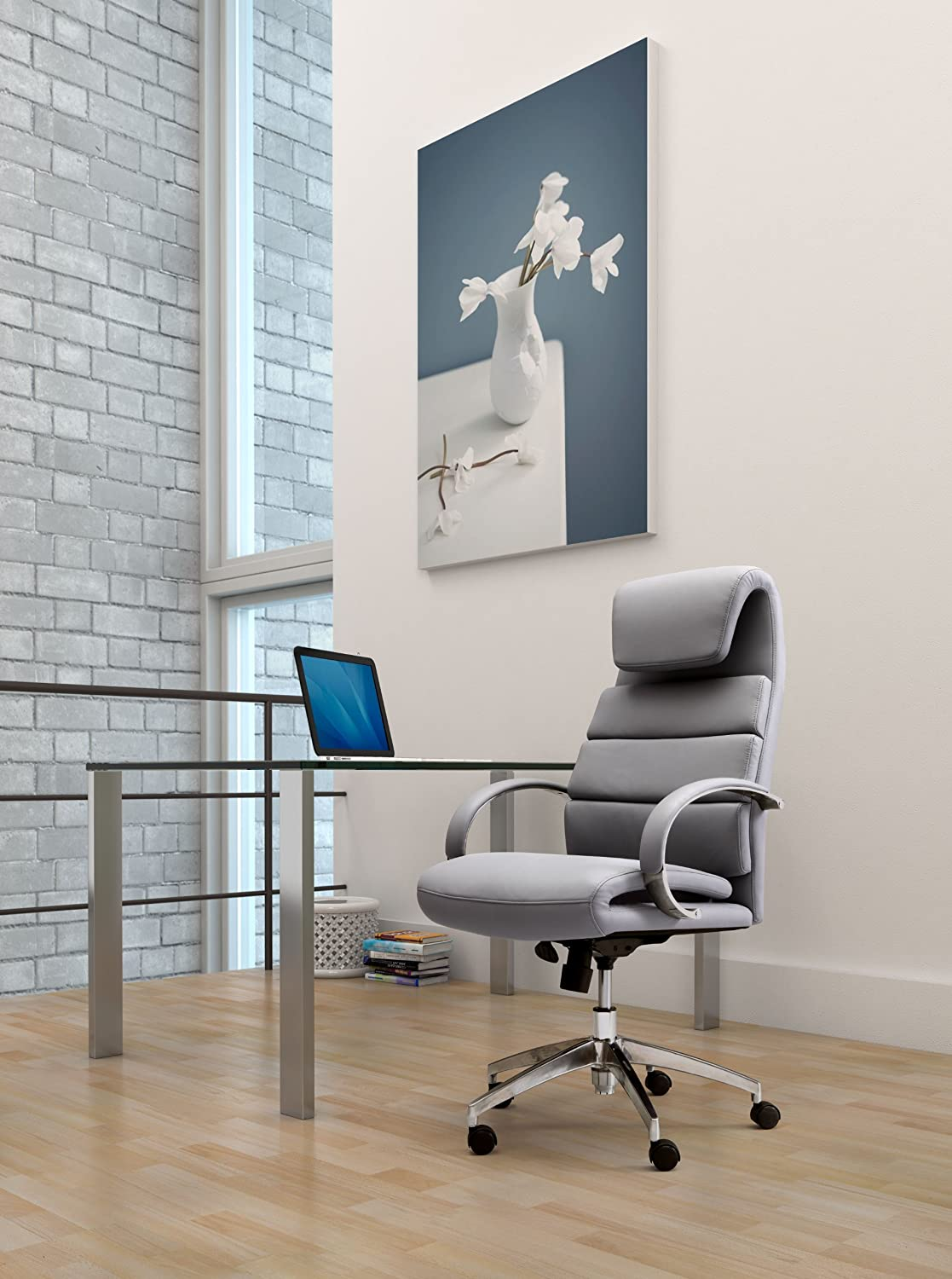 Amazon.com: ZUO MODERN Lider Comfort Office Chair, Gray: Kitchen U0026 Dining