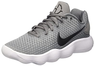 NIKE Men's React Hyperdunk 2017 Low Cool Grey/Black/Wolf Grey Synthetic Basketball  Shoes