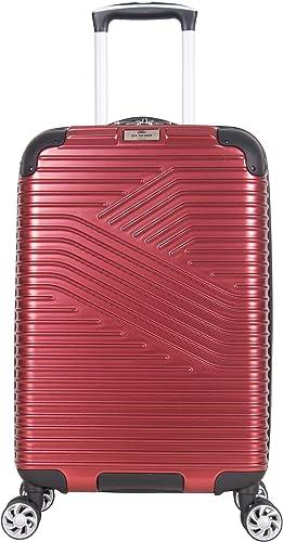 Ben Sherman Bangor 20 Lightweight Hardside PET 8-Wheel Spinner Expandable Carry-On Luggage Suitcase, Warm Red