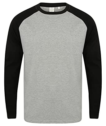 5828b651 Skinnifit Mens Long Sleeve Baseball T-Shirt: Amazon.co.uk: Clothing
