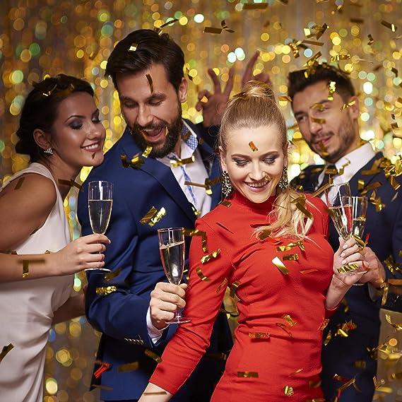 Fasching Parties Konfettiregen Konfettikanone bis 8m Effekth/öhe gelb Karneval Relaxdays Party Popper 40 cm Banana