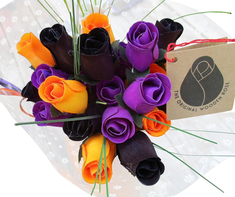 Amazon.com: The Original Wooden Rose Black, Orange, and Purple ...