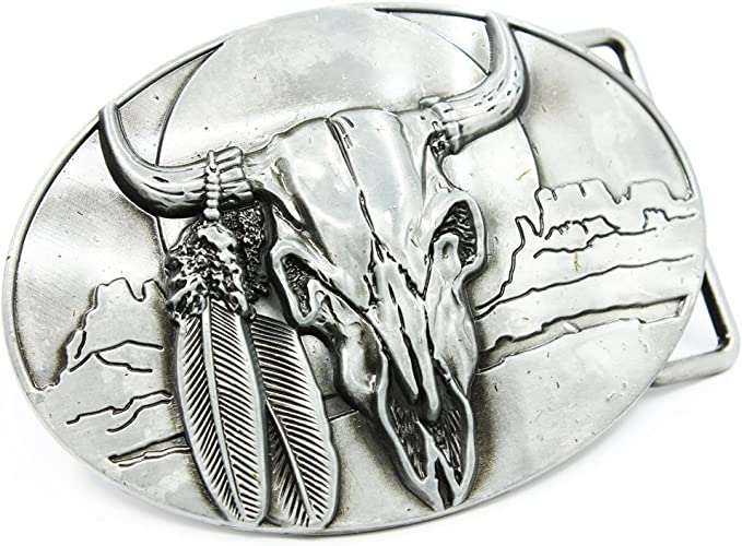 Details about  /Cowboy Cowgirl Childs Western Belt Buckle Cow Skull Mother of Pearl?