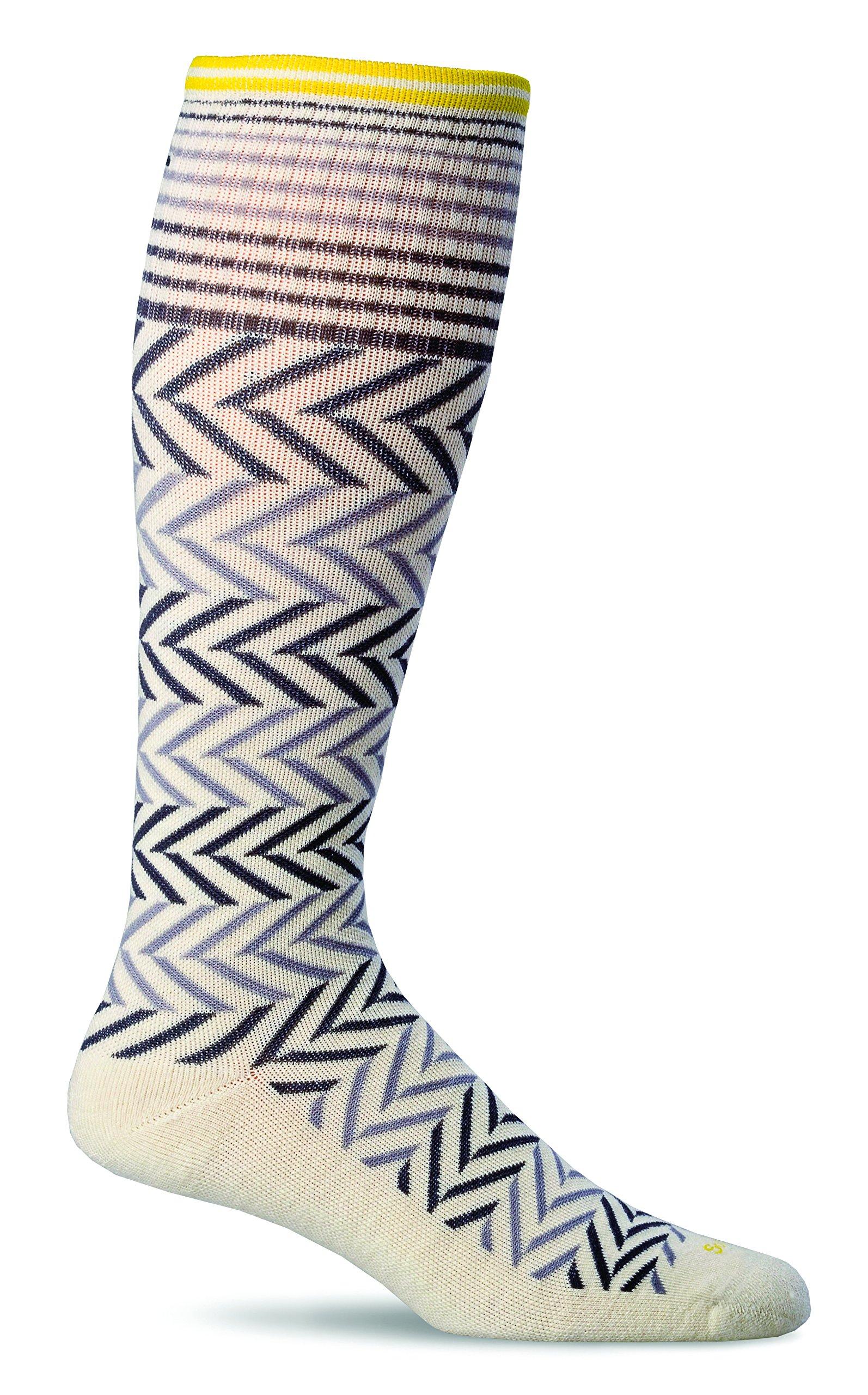 Sockwell Women's Chevron Graduated Compression Socks, Natural, Small/Medium