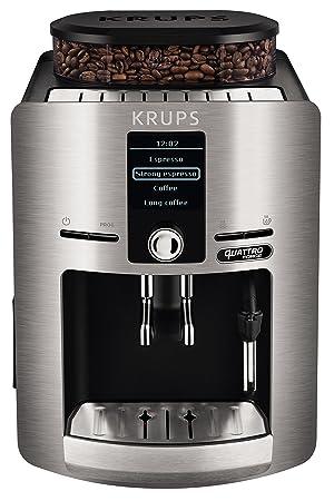 Krups Espresseria Quattro Force Cafetera Automática, 1450 W, 1.7 litros, Acero Inoxidable, Plateado