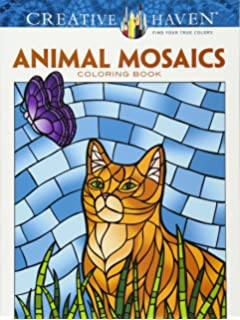 Creative Haven Animal Mosaics Coloring Book Adult