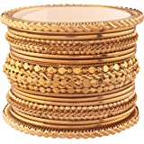 I Jewels Traditional Gold Plated Bangles for Women (ADB154)