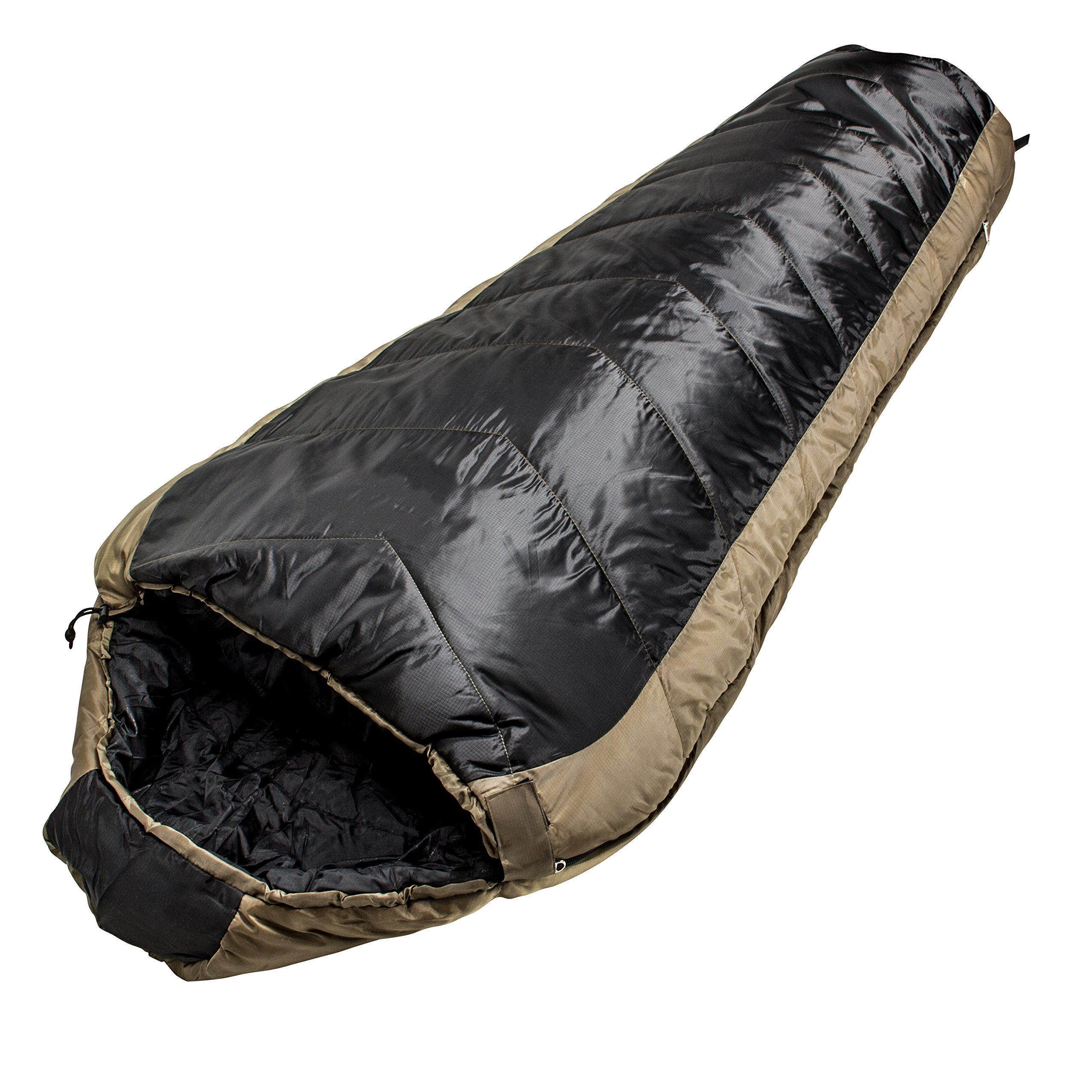 North Star Sports Tactical Coretech 3.5 Mummy Multi Layer Core Sleeping Bag with Storage Bag, Coyote