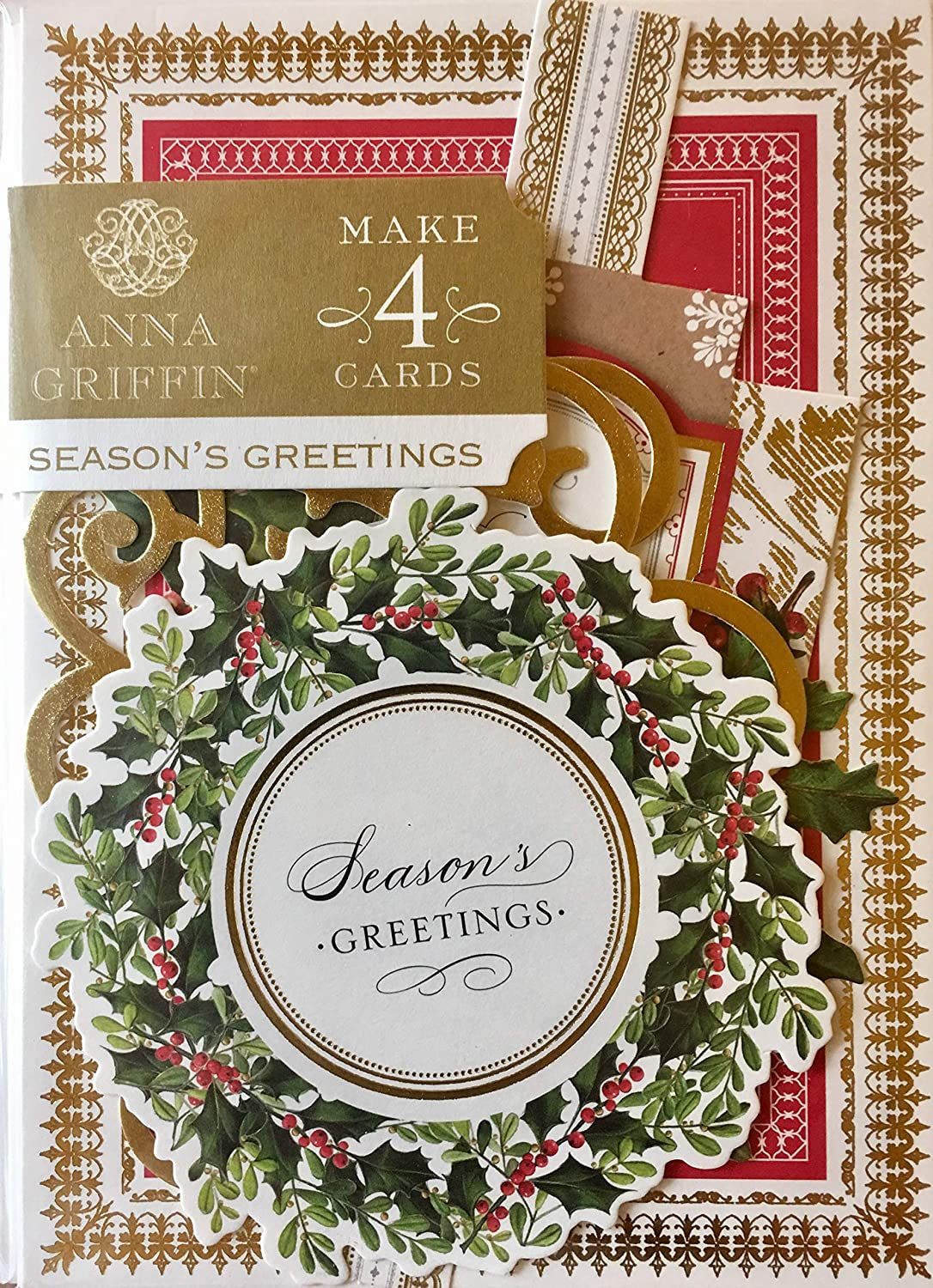Anna Griffin Christmas Cards.Amazon Com Anna Griffin Christmas Greetings Card Making Kit