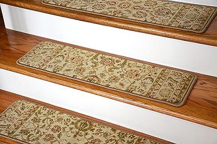 Dean Premium Carpet Stair Tread Rugs   Bergama Ivory 31u0026quot; ...