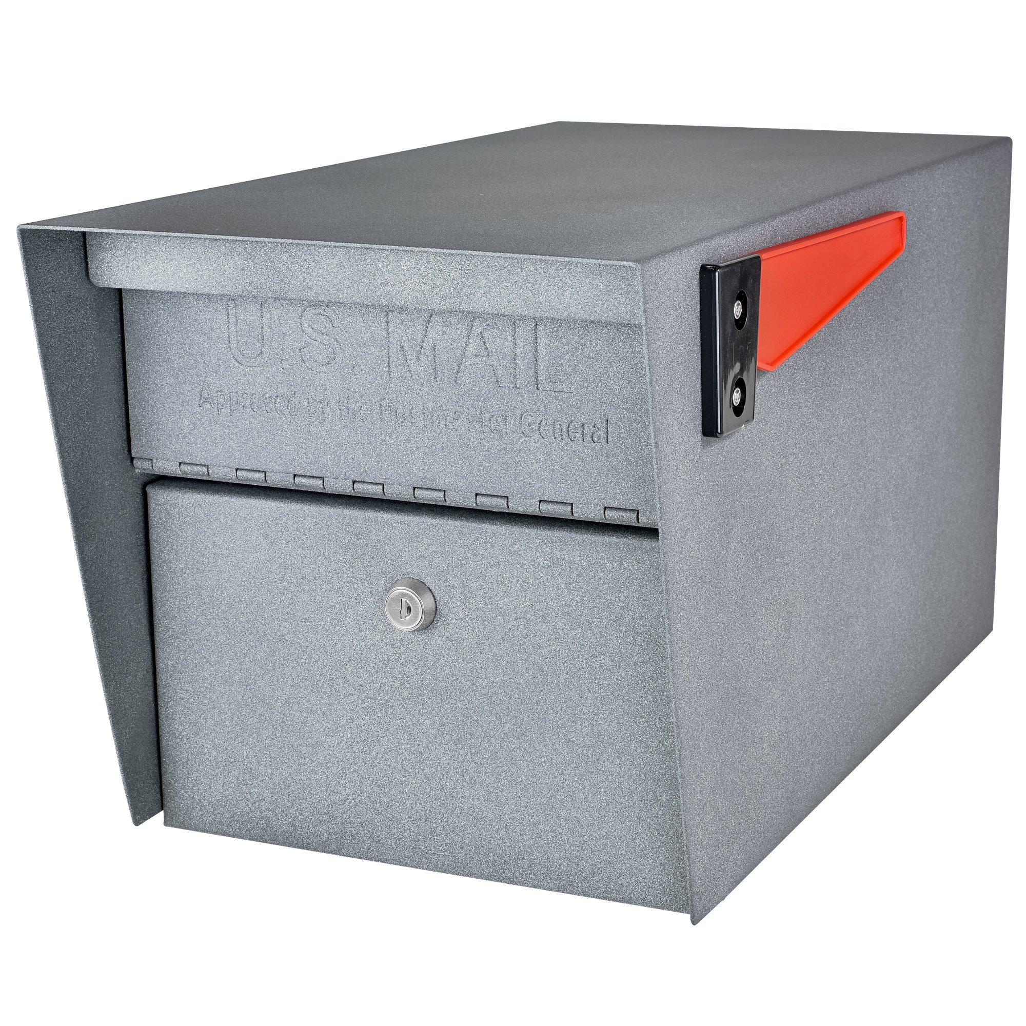 Mail Boss 7505 Mail Manager Locking Security Mailbox, Granite