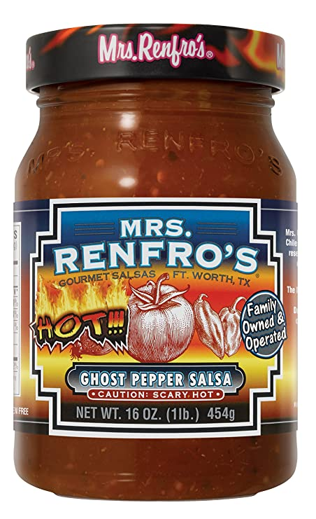 Mrs. Renfros Ghost Pepper Salsa - 2jar pack: Amazon.es: Alimentación y bebidas