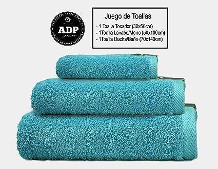 ADP Home - Juego de Toallas 550 Grms 3 Piezas (Toalla Ducha/Baño,