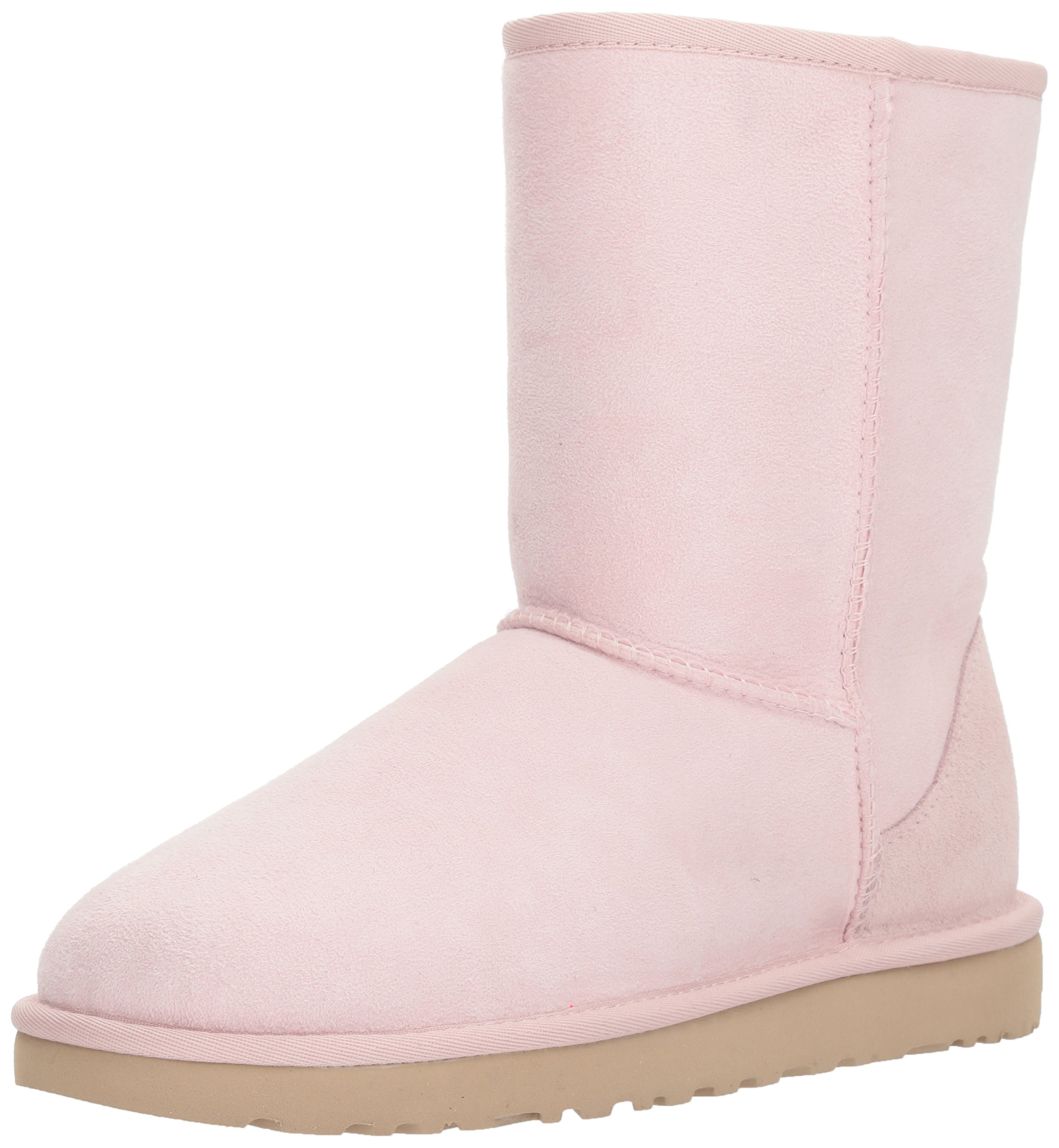 UGG Women's Classic Short II Fashion Boot, Seashell Pink, 8 M US