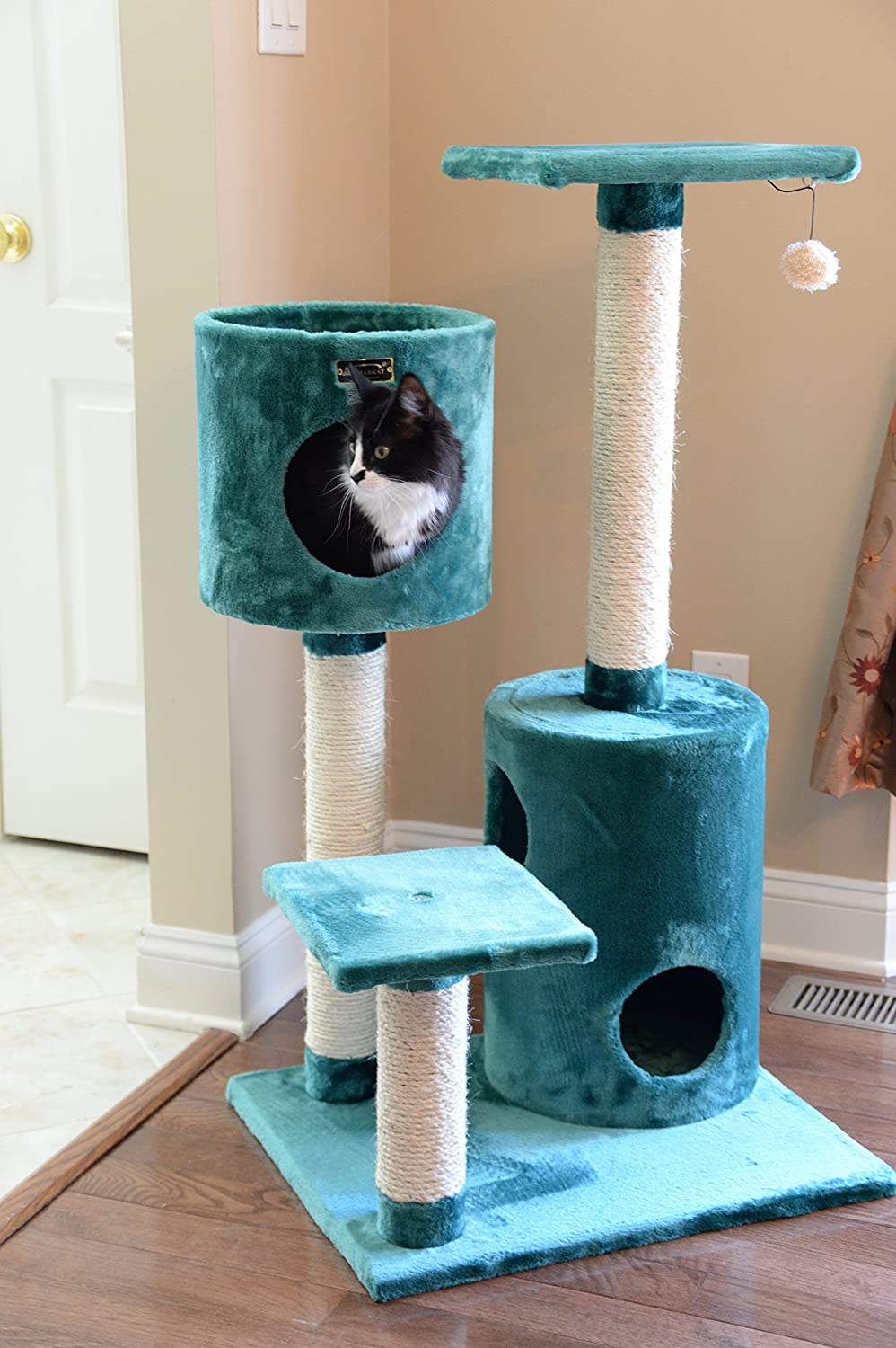 Amazon.com : Armarkat Cat Tree Model A4301, Dark Green : Cat Condo Armarkat  : Pet Supplies